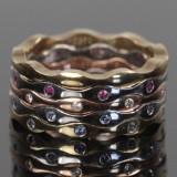 I.S. design, Ringe i 14 kt. hvid- rosa- og alm. guld (5)
