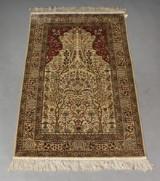 Oriental silk rug, 93x155 cm