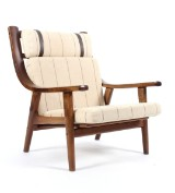 Hans J. Wegner. High-backed easy chair, model GE530 A, smoked oak