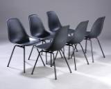 Charles Eames. Sæt på seks skalstole, model DSX. (6)