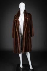 Brown mink coat, size 42/44. Labelled Birger Christensen