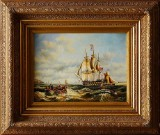 Oljemålning skepp