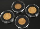 Samling guldmønter (4)