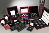 Danmark. Samling mønter og medailler af sølv og guld