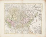8 kartor över bl.a. Ungern och Österrike