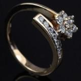 Brilliant-cut diamond ring, approx. 0.38 ct.