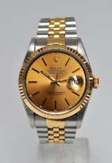 Rolex Datejust  men's watch, 18 kt. gold and steel