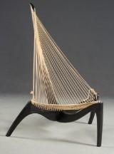 Jørgen Høvelskov, lounge stol, model Harpestol, for Christensen & Larsen Møbelhåndværk, Danmark