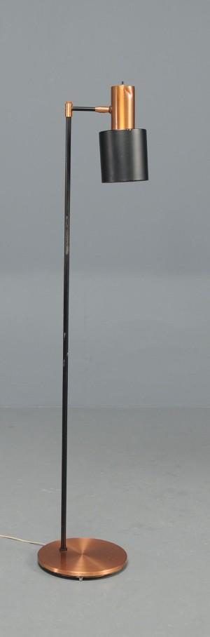 Gulvlampe standerlampe, kobber, Fog og Morup, Jo Hammerborg Lauritz com