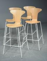 Arne Jacobsen. Barhocker 'Munkegaard'/'Die Mücke' (4)