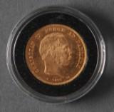 Danmark. 20 kroner guldmønt 1890