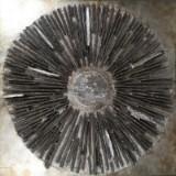 Design Bild in Reliefform, Mischtechnik auf Holzplatte