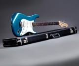 Fender Stratocaster Sub-Sonic baritone electric guitar, USA 2000, has belonged to Tim Christensen