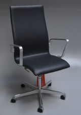 Arne Jacobsen. Oxford office chair, model 3273, Red Label, certificate incl.