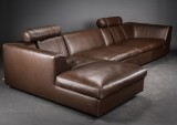 Eilersen sofa with chaise longue, model Orion, leather
