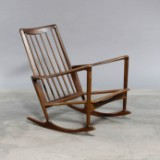 Ib Kofoed Larsen. Rocking chair, model 650-15, solid teak