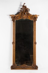 A large mirror, Neo Rococo, c. 1880, nut tree