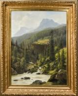 Georg Emil Libert. Oil on canvas, Nordic mountain landscape