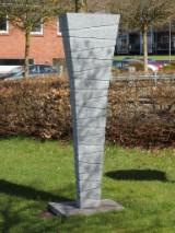 Erling Janum. 'Fragment', sculpture, granite