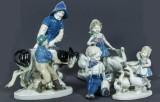 Figuriner, 5 st, porslin, Gräfentahl och LIppelsdorf, Tyskland