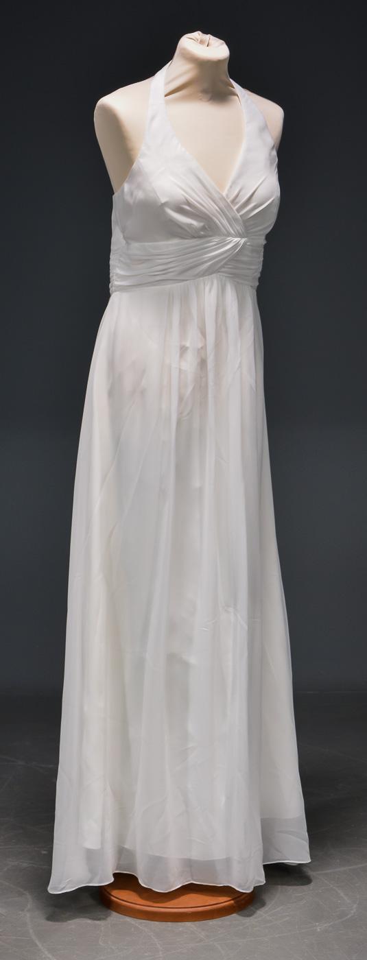 Luxus - Brudekjole str. 40 - Luxus - Brudekjole str. 40. Model med halterneck. Brystmål ca. 84 cm. Taljemål ca. 72 cm. . Se stort udvalg af selskabs og brudekjoler fra ophørt butik. Find din kjole til bryllup - studenterfest eller en anden særlig lejlighed