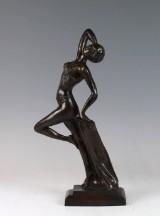 Bronzefigur einer oriantalischen Dame im Turban im Stile des Art Deco