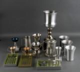 Hejl, Christian Jensen mfl. Stor samling div. pokaler/bægre/fade/dækketallerkener mm. af metal (5 kasser)