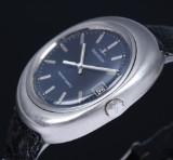 Jaeger-LeCoultre 'Master-Quartz'. Vintage herreur i stål med blå skive, 1970'erne