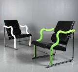 Yrjö Kukkapuro. Lounge chairs, 'Experiment', a pair
