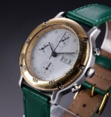 Bucherer 'Chronograph'. Automatic men's watch, steel, partly gilt, 1990s