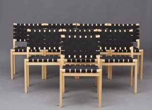 m bel alvar aalto st hle modell 611 aus buchemit med schwarzen gurten 8 dk. Black Bedroom Furniture Sets. Home Design Ideas