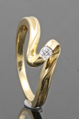18kt. diamond ring approx. 0.08ct