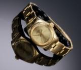 Rolex 'Oyster Perpetual'. Vintage Damenuhr aus 18 kt. Gelbgold mit champagnerfarbenem Zifferblatt - Zertifikat 1981