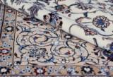 Persian Nain Akhavan with silk, 4 La, 301 x 215 cm