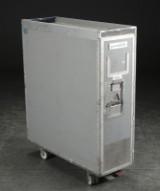 Serveringsvogn / trolley af aluminium fra flyvemaskine