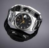 Vintage Rolex 'Oysterdate Precision' men's watch, steel, black dial, c. 1982