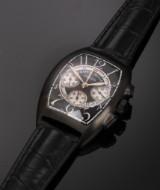 Franck Muller 'Chronographe'. Men's watch in PVD-treated steel