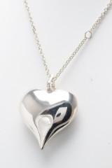 Kurt Nielsen, halskæde med KNDK Heart vedhæng, sterling sølv