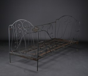 jern seng Slutpris för Fransk jernseng lille jern seng