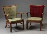 Fritz Hansen. Par lænestole, 1940'erne (2)