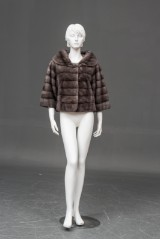 Amoress, Stockholm. Short grey mink jacket, size 38