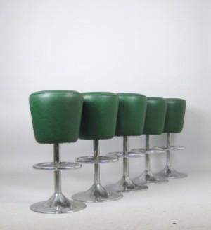Set diner barhocker der 1960 70er jahre 5 for Barhocker 70er jahre