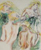 Diana Achtzig, Ölemälde, 'Die blonden Nymphen'