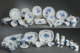 Royal Copenhagen, Blue Flower, assorted bowed/braided/edged service (99)