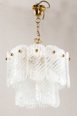 Kalmar Franken lamp with ice flow-shaped ice glass