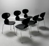 Arne Jacobsen, stolar 3301 Myran, 6 st