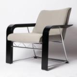 Lübke, Designersessel / Armchair / Loungechair, hell