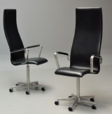 Arne Jacobsen. Pair of high-backed Oxford office chairs, model 3292 (2)
