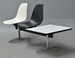 charles eames bank herman miller 2 sitzer m tisch. Black Bedroom Furniture Sets. Home Design Ideas