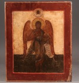 Russian icon depicting John the Baptist as angel (Angel of the Desert), 18th century